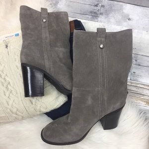 Nine West Gray Suede Mid-calf Boot